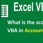 What is the scope of VBA in Accounting