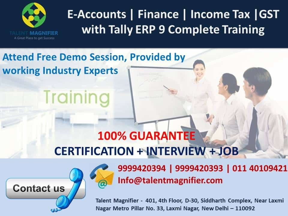 E-Accounting, GST, + Free SAP FICO and Tally ERP 9 Practical